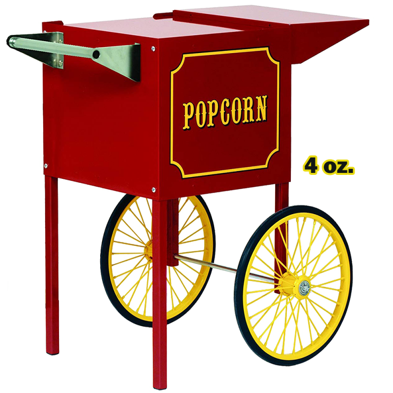 Popcorn Machine 4 oz. with Cart