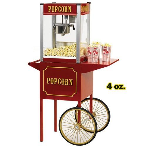 Machine à Popcorn 4 oz. avec Chariot