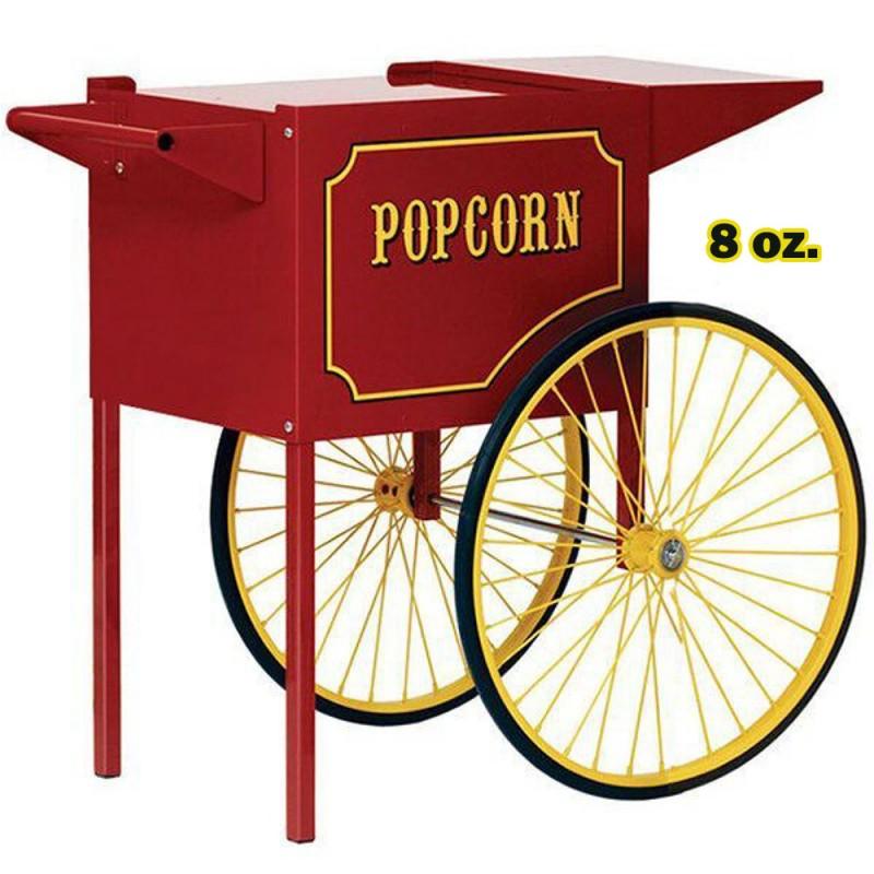 Machine à Popcorn 8 oz. avec Chariot