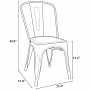 Tolix Chair Dimensions