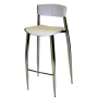 Chrome Highboy Barstool