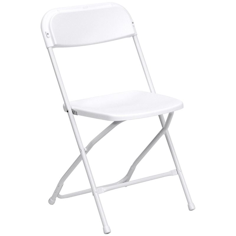 Folding Chair - White Resin