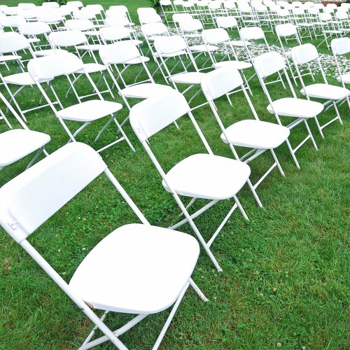 Folding Chair - White Resin