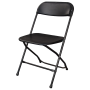 Folding Chair - Black Resin