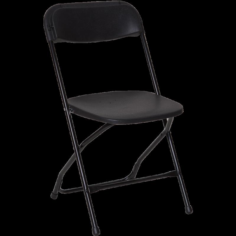 Folding Chair - Black Resin
