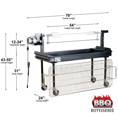 Barbecue Charcoal Grill & Rotisserie 5'