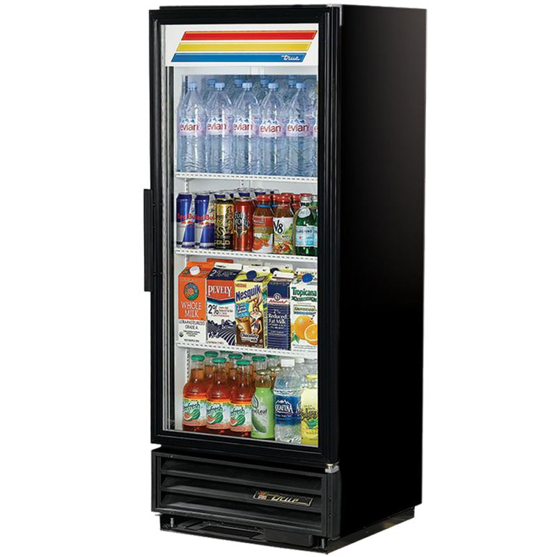 Glass 1-door refrigerator