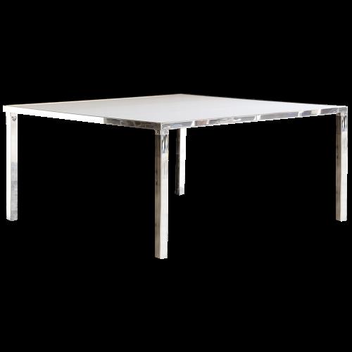 Gala Dinner Table Square - White