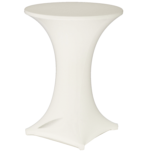Cocktail Bistro Table - Lycra Cover White