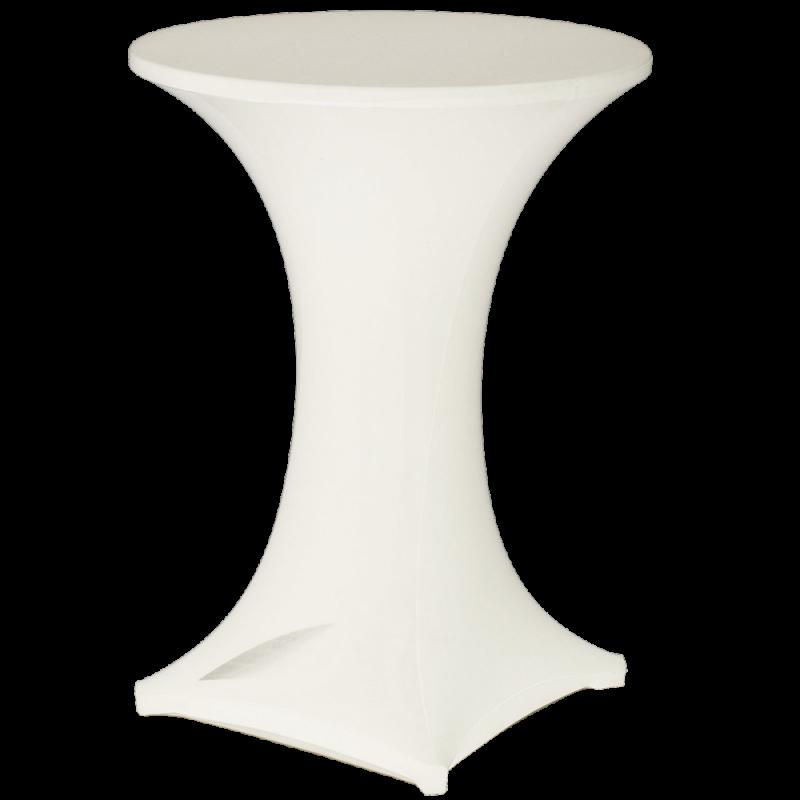 Table Cocktail Bistro - Nappe Lycra Blanc