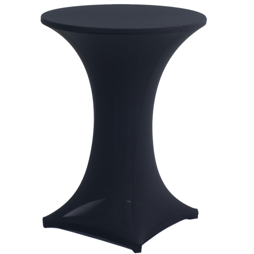 Cocktail Bistro Table - Lycra Cover Black
