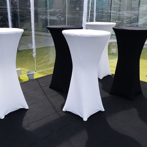 Table Cocktail Bistro - Nappe Lycra Noir