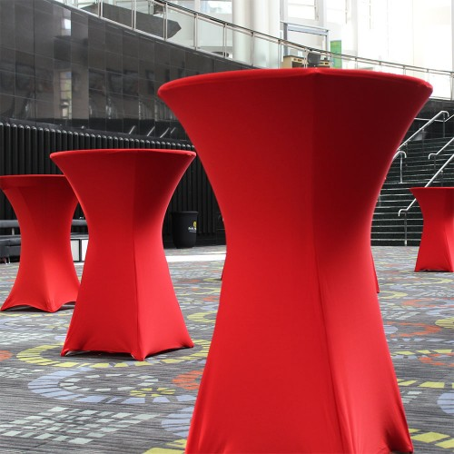Cocktail Bistro Table - Lycra Cover Red
