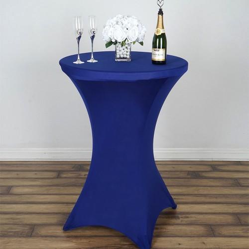 Table Cocktail Bistro - Nappe Lycra Bleu Royale