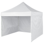 Pop-Up Canopy Tent 10x10 White Full Walls