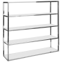 Chrome BackBar Shelves - White