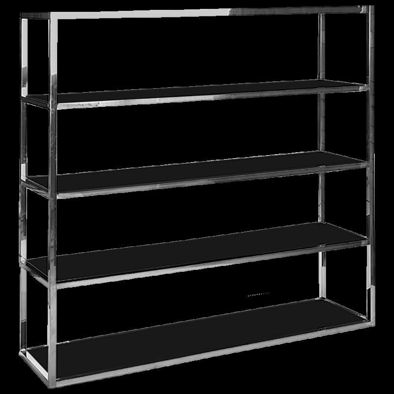 Chrome BackBar Shelves - Black
