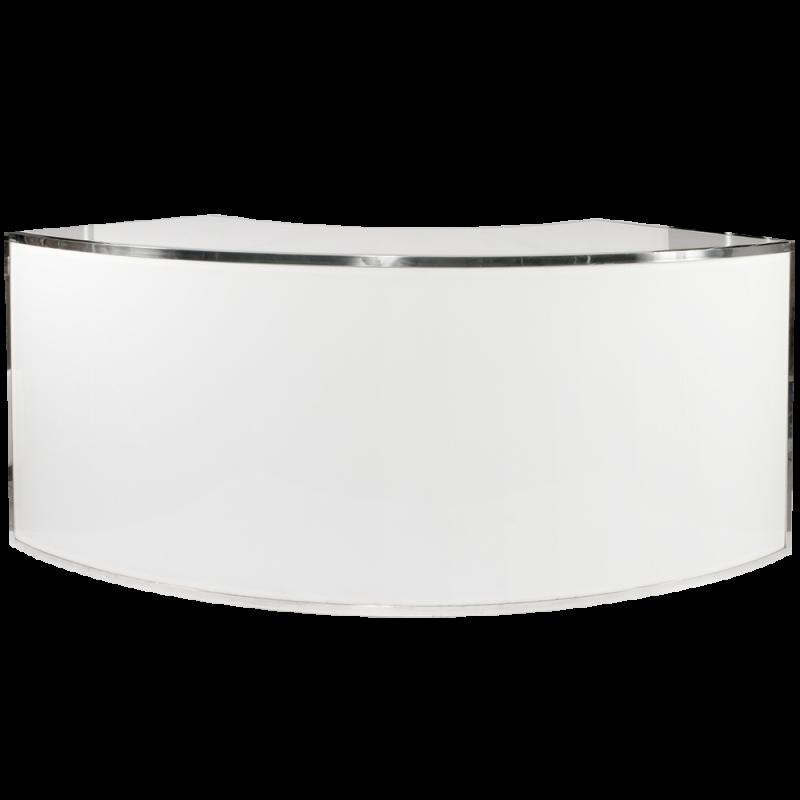 Gala Plexi Bar 1/4 Round - White