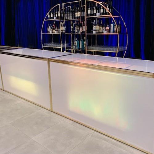Gala Plexi Bar 6ft. White Gold-Chromed
