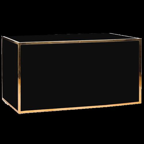 Gala Plexi Bar 6ft. Black Gold-Chromed