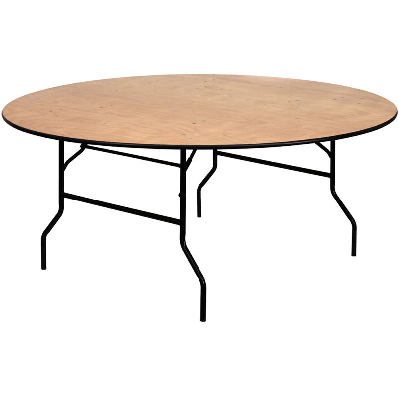 Folding Wood Round Table 72'