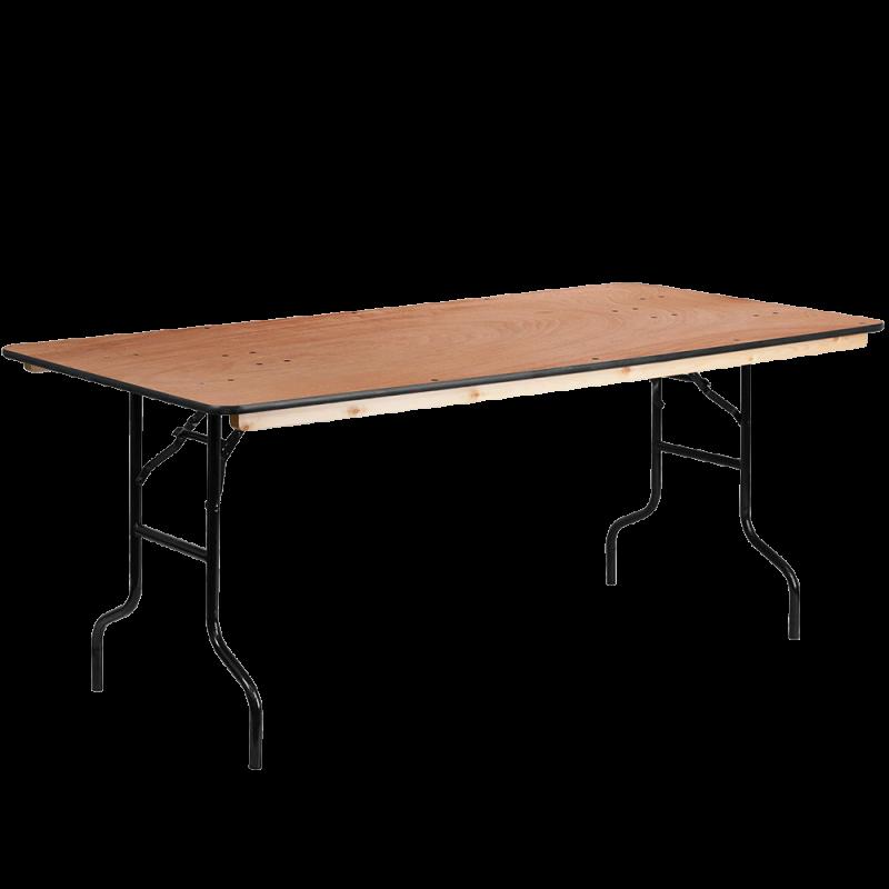 Table Rectangulaire Pliante en Bois 6'