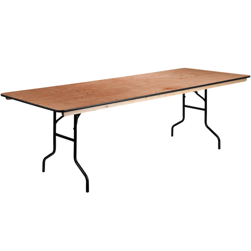 Folding Wood Rectangle Table 8'