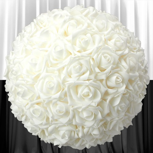 Flower Ball - Off White Roses