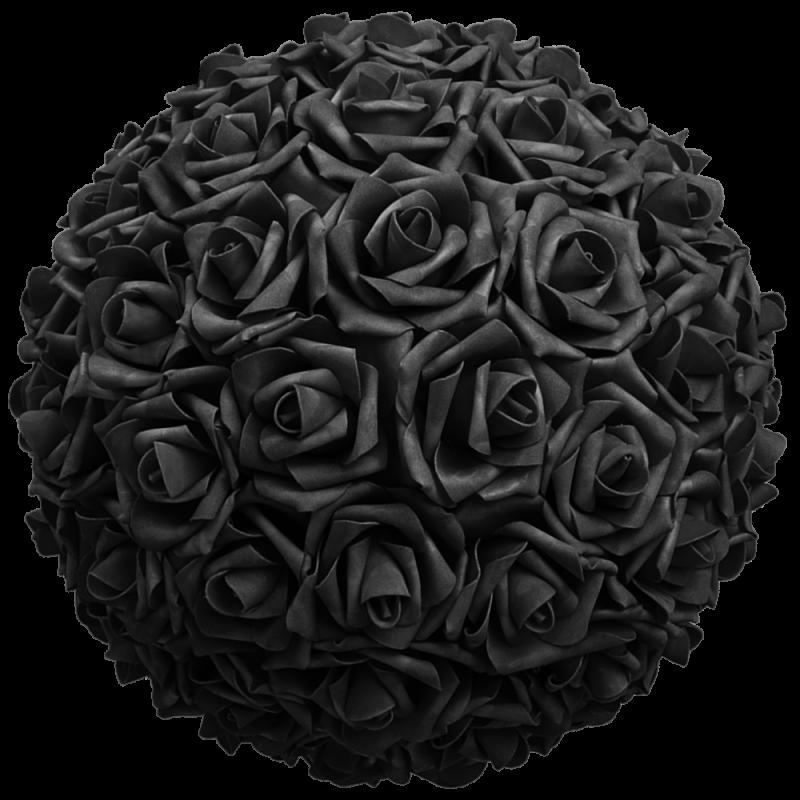 Flower Ball - Black Roses