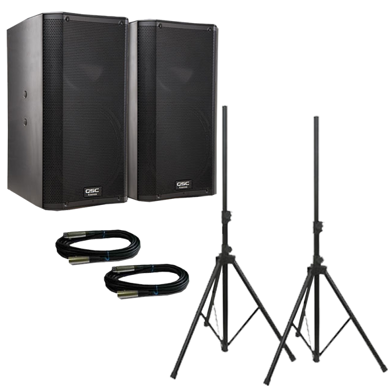 QSC K8 Powered PA Speaker Set