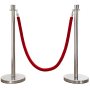 Corde Velour Rouge pour Poteaux de Foule