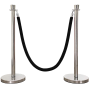 Black Velour Rope for Stanchions