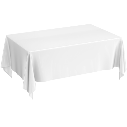 Tablecloth - Polyester Rectangle White