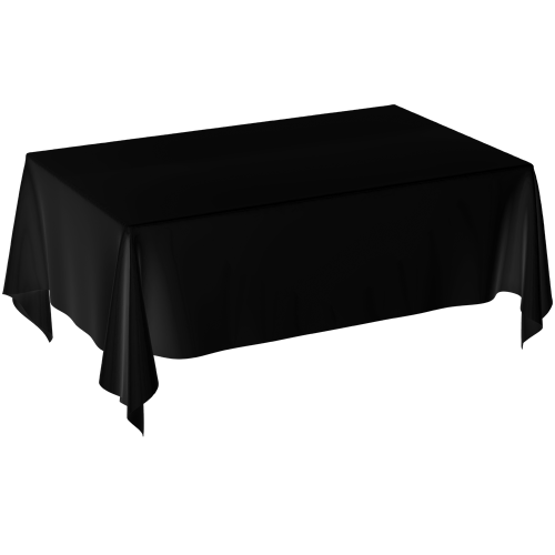 Tablecloth - Polyester Rectangle Black
