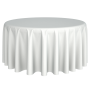 Tablecloth - Polyester Round White