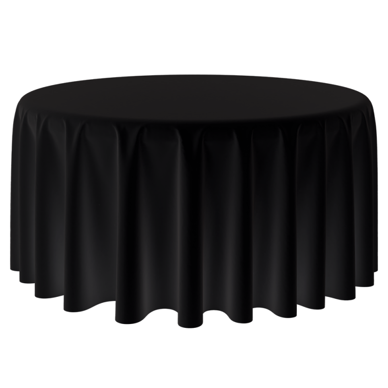 Tablecloth - Polyester Round Black