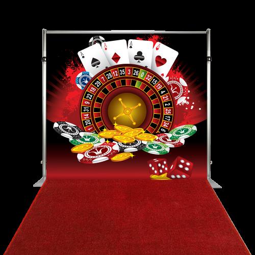 Bannière Toile de Fond - Casino Roulette