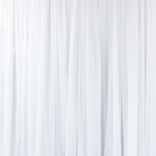 Pipe & Drape - White Sheer Draping