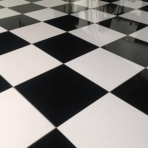 Laminated Dance Floor - Black 3' x 3'