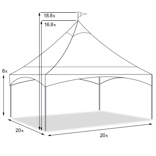 Tent - Peak Marquee Clear Top