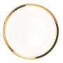 "Glass Charger Plate - 13"" Gold Border"