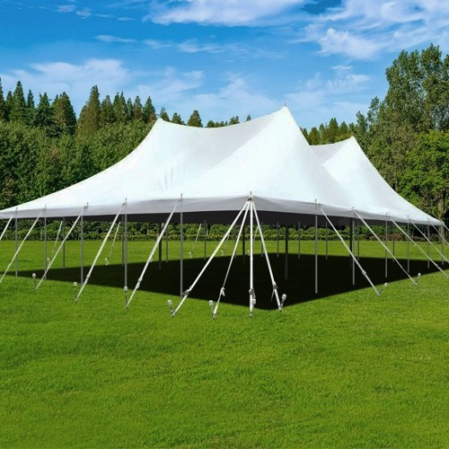 Peak Pole 40' Tent - White